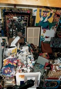 Combas' studio Rue Quincampoix, Paris 2000