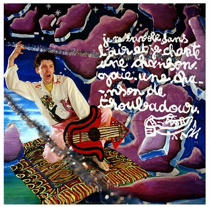 Robert Combas Troubadour de l'espace. ¢Louis Jammes 1982