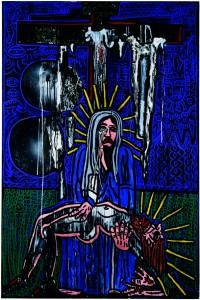 Chemin de croix Combas/Kijno - station XIII Jésus est déposé de la croix et remis à sa mère - 195x130, 2003-2005