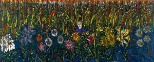 l'autiste dans la forêt de fleurs