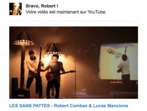 vidéo des SANS PATTES Robert Combas & Lucas Mancione. Featuring Lee Mancione  et Genevieve