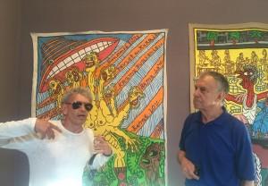 Robert Combas & Yvon Lambert au musée de Vence, juin 2016